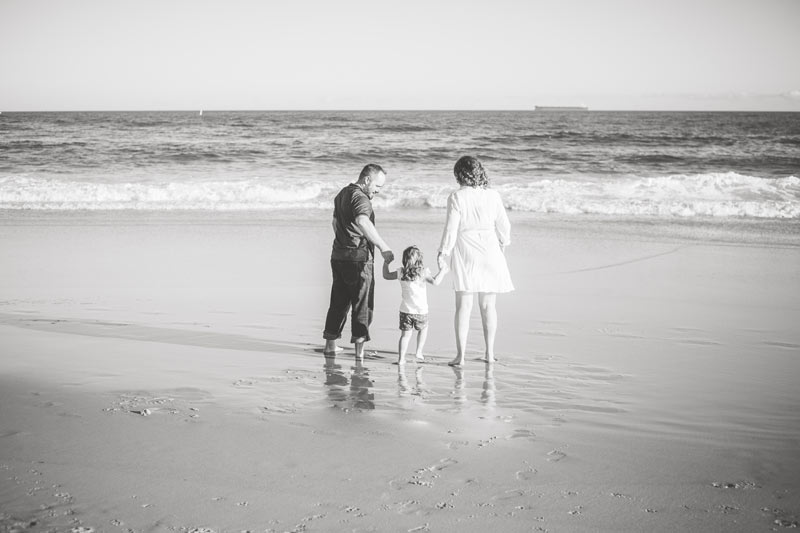 Family Photo on the beach by family photographer Little Magnolia