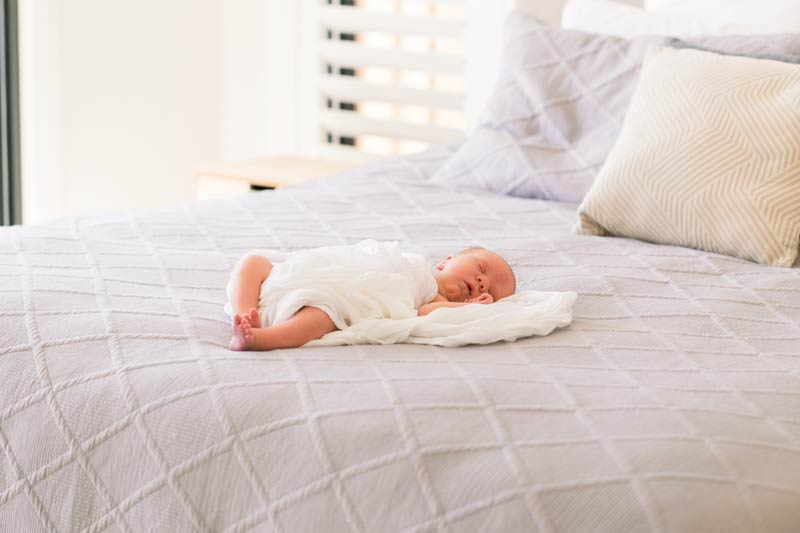 sleeping baby by Newborn photographer Little Magnolia Newcastle
